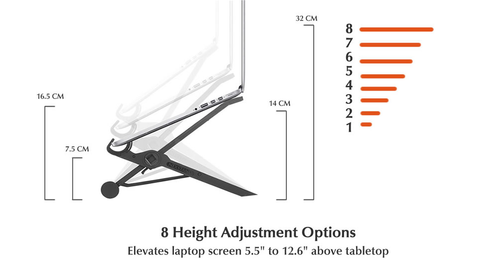 K2 features 8 height adjustment options
